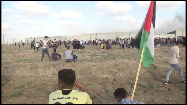four palestinians were killed friday by israeli forces in two separate incidents near the gaza-israel buffer zone, according to gaza's health... - historical palestine stock videos & royalty-free footage