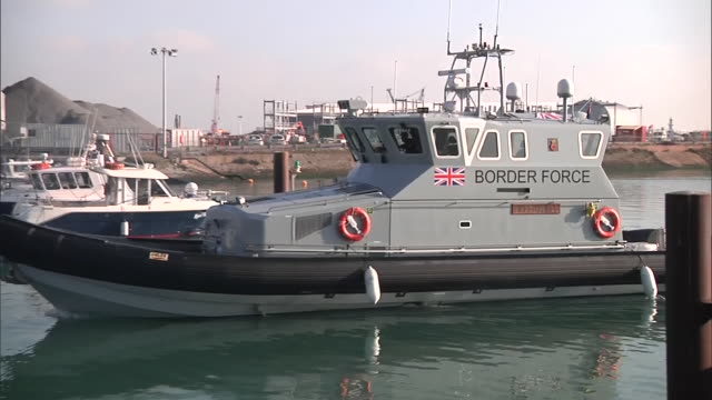 four people believed to be from iran have been rescued from a rubber dinghy in the english channel the skipper of the fishing boat that found them... - oar stock videos & royalty-free footage