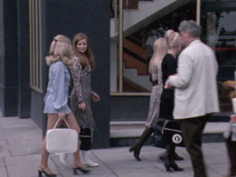 Four Playboy 'Bunnies' arrive at the Playboy Club in central London