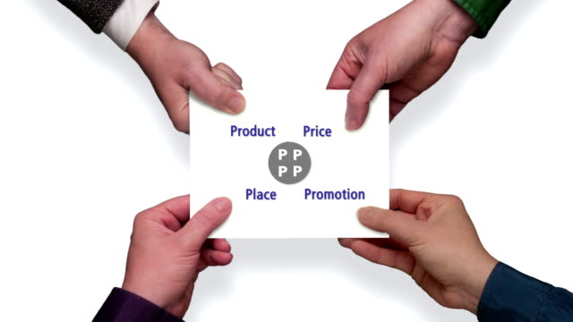 four ps of marketing (with alpha matte) - matte board stock videos & royalty-free footage