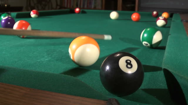 four rails to the eight ball - cue ball stock videos & royalty-free footage