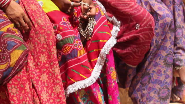 four rajasthani women, jaisalmer, rajasthan, india - slipper stock videos and b-roll footage