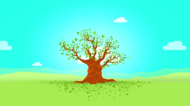 vídeos de stock, filmes e b-roll de four seasons árvore - quatro estações