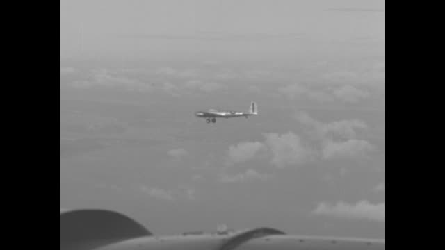 four shots of bomber plane taxiing this is an early version of the b17 flying fortress plane / plane taking off boeing visible on fuselage / two... - boeing stock videos & royalty-free footage