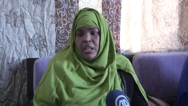 four somalian women who take shelter in turkey escaping brutal attacks of alshabaab terror group share their expectations and missings with aa... - family with four children stock videos and b-roll footage