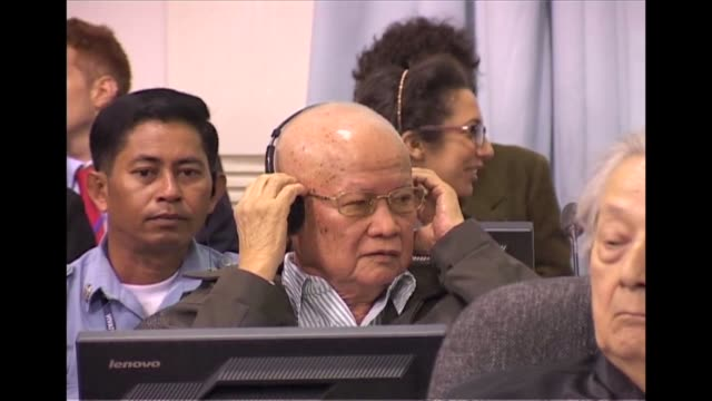 four top khmer rouge leaders went on trial at cambodia's unbacked war crimes court on monday for genocide and other atrocities during the maoist... - maoism stock videos & royalty-free footage