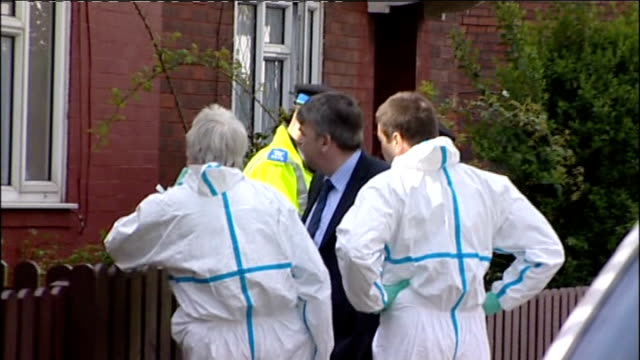 four year old girl found dead in house in merseyside england merseyside wallasey ext various of forensic officers outside house where the body of... - merseyside stock videos and b-roll footage
