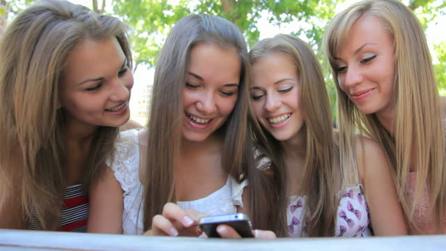 four young woman in summer outdoors sidewalk cafe - only young women stock videos and b-roll footage