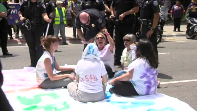 """KTXL Fourteen people were detained cited and released when a child care rally for SB 548 caused traffic jams Workers could be heard shouting """"We did..."""