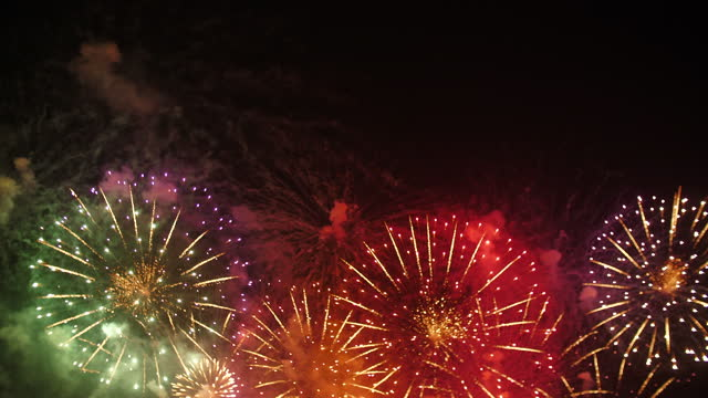 fourth of july fireworks - firework explosive material stock videos & royalty-free footage