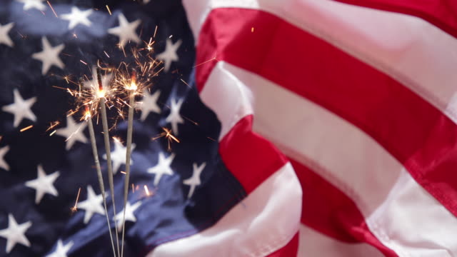 Fourth of July Sparkler Video - 4K