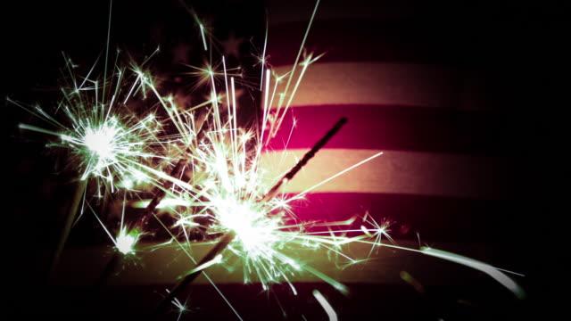 Fourth of July Sparkler Video - 4K