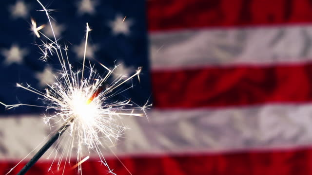 fourth of july sparkler - number 4 stock videos & royalty-free footage