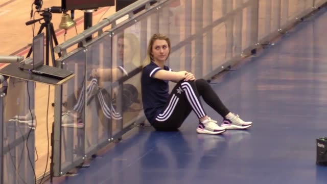 fourtime olympic gold medallist laura kenny spoke to promote the inaugural phynova six day manchester she discusses having to withdraw from the uci... - championships stock videos & royalty-free footage