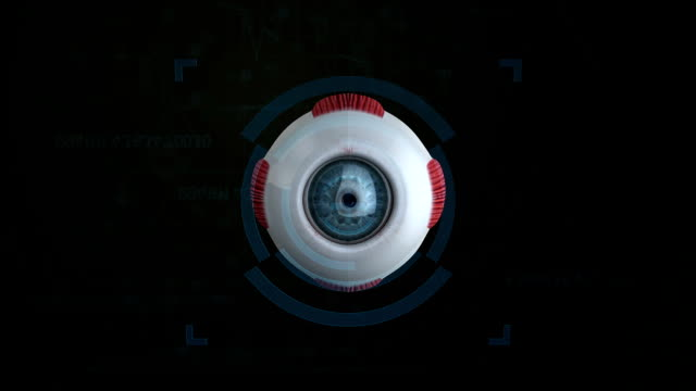 3d eye fovea effect - eyeball stock videos and b-roll footage