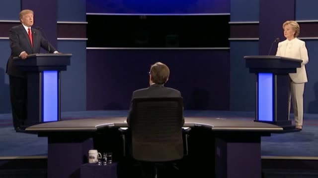 fox news sunday anchor chris wallace asks republican party presidential candidate donald trump whether he would like to see the supreme court... - debate stock videos & royalty-free footage