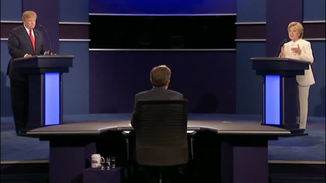 fox news sunday anchor chris wallace moderates as democratic party presidential candidate hillary clinton and republican party presidential candidate... - debate stock videos & royalty-free footage