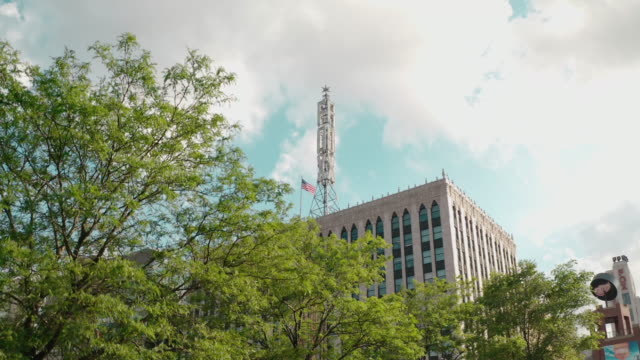 fox theater downtown detroit - high up stock videos & royalty-free footage