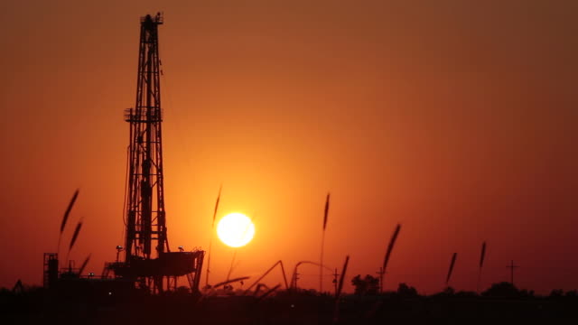 fracking in kansas - fracking stock videos and b-roll footage