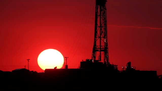 fracking red sky - fracking stock videos and b-roll footage