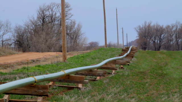 fracking water line hd - fracking stock videos and b-roll footage