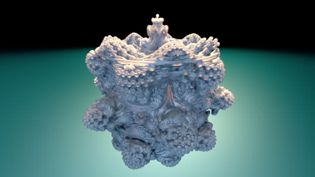 fractal 2022: a futuristic mandelbulb object twists and turns. - new age stock videos & royalty-free footage