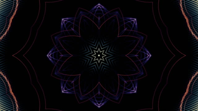 fractal art of islamic loop - mandala stock videos & royalty-free footage
