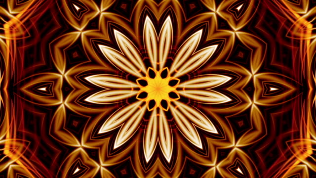 fractal art of red tulip loop - mandala stock videos & royalty-free footage