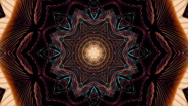 fractal art of the dark loop - mandala stock videos & royalty-free footage