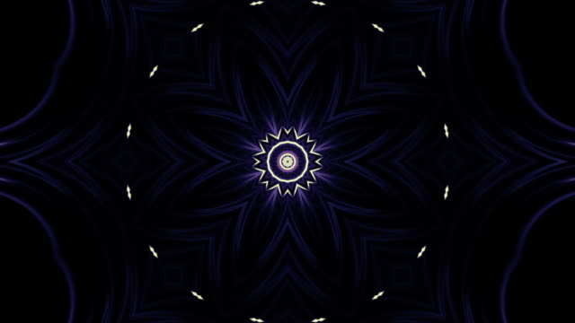 fractal art of tulip loop - mandala stock videos & royalty-free footage