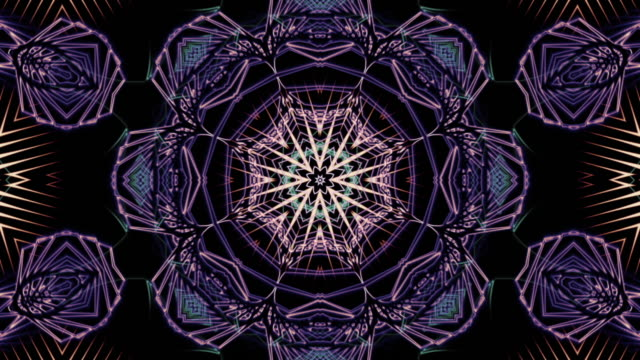 fractal art of winter loop - mandala stock videos & royalty-free footage