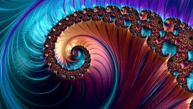 fractal background with abstract bright spiral - fibonacci pattern stock videos & royalty-free footage