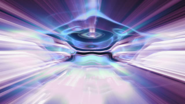 fractal light forms ripple and shine. - atomo video stock e b–roll