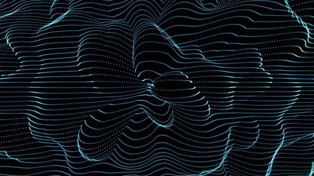 vídeos y material grabado en eventos de stock de fractal light forms undulate and flow - fractal