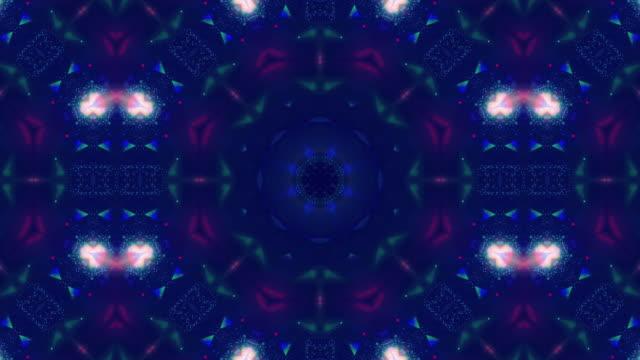 fractal pattern background animation - kaleidoscope pattern stock videos & royalty-free footage