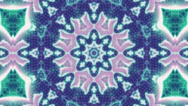 vídeos y material grabado en eventos de stock de animación de fondo de patrón fractal - caleidoscopio patrón