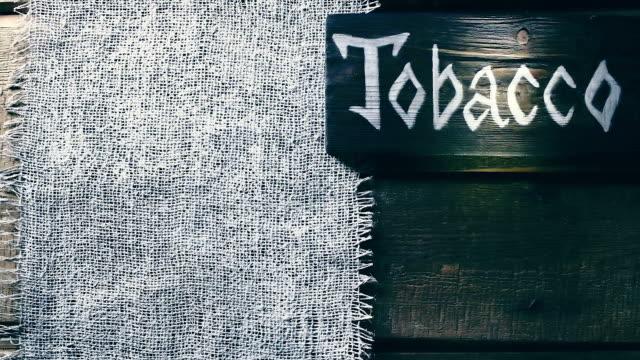 麻布と木のフレーム - 荒い麻布点の映像素材/bロール