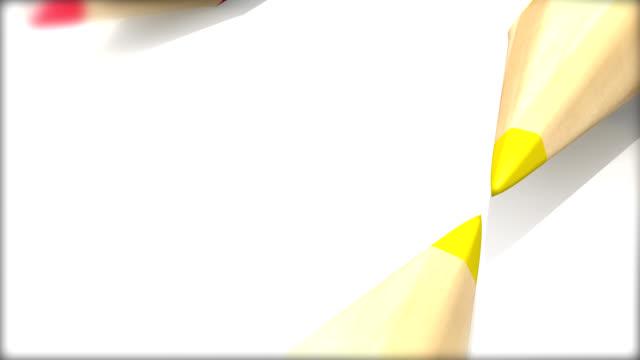 vídeos de stock, filmes e b-roll de quadro de lápis de cor - snow cornice