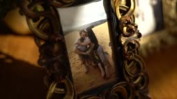 Framed picture of a family couples in wedding reception