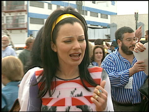 Fran Drescher at the 1997 Nickelodeon Kids' Choice Awards Arrivals at Grand Olympic Auditorium in Los Angeles California on April 19 1997