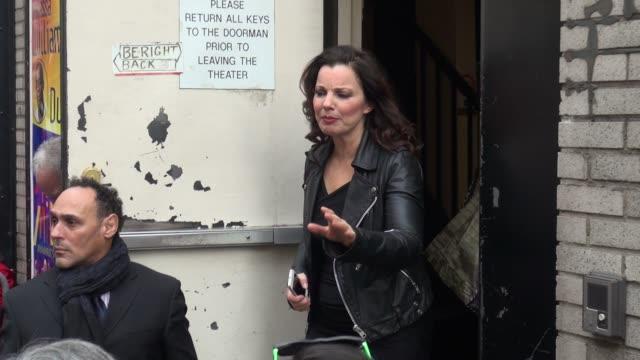 fran drescher at the stage door of her broadway play cinderella in celebrity sightings in new york, - シンデレラ点の映像素材/bロール