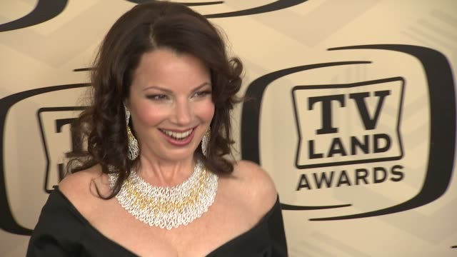 fran drescher at tv land awards 10th anniversary arrivals at lexington avenue armory on april 14 2012 in new york ny - tv land awards stock videos and b-roll footage