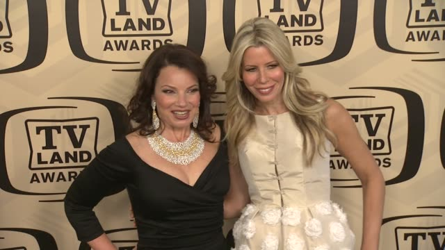 fran drescher aviva drescher at tv land awards 10th anniversary arrivals at lexington avenue armory on april 14 2012 in new york ny - tv land awards stock videos and b-roll footage