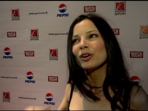 fran drescher, wearing dolce and gabbana on how she got involved with the brick awards, why the brick awards are so amazing, helping senior citizens... - do something organization stock videos & royalty-free footage