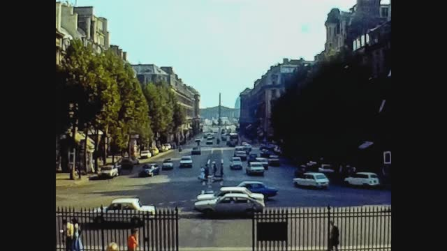 france 1976, paris street view in 70's - cityscape stock videos & royalty-free footage