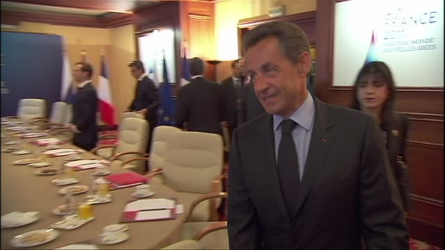 france and russia have finalised the details of a deal for paris to sell four powerful warships to moscow president nicolas sarkozy and his... - calvados stock videos and b-roll footage