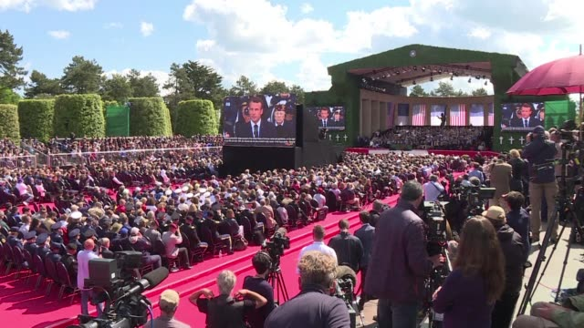 france and the united states pay tribute to the near century old veterans of the dday landings many of whom gathered for commemorations in normandy - d day stock videos and b-roll footage