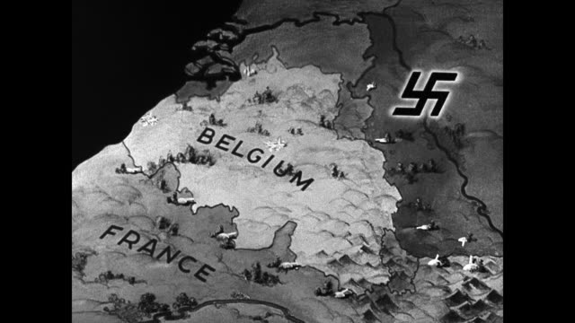 map 'france belgium ' amp german nazi swastika symbol - nazi germany stock videos and b-roll footage