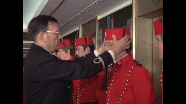 1968 - SS France Bellhops inspected