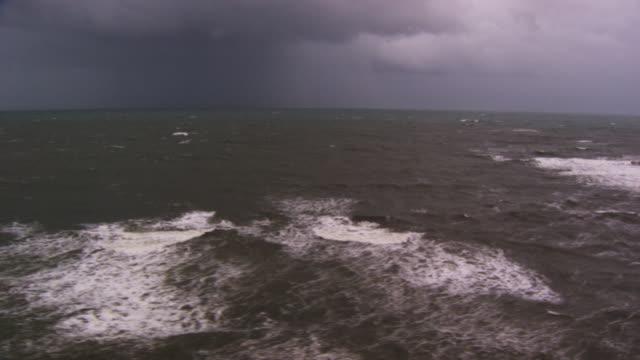 France, Bretagne: Atlantic Ocean under bad weather